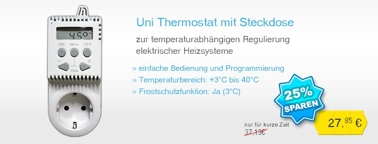 Uni Steckdosenthermostat