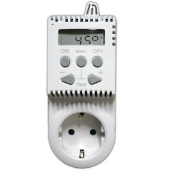 Uni-Thermostat m. Steckdose